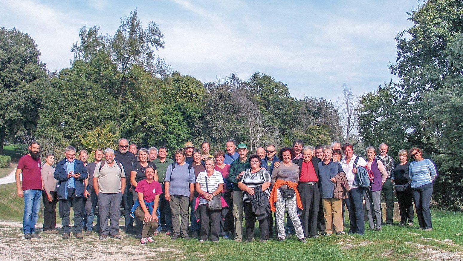 Skupinska slika v parku San Floriano