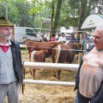 Milan Hribar in Alojz Frelih na razstavi v Polhovem Gradcu
